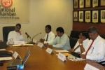 Minister Ranawaka addresses  the National Chamber members